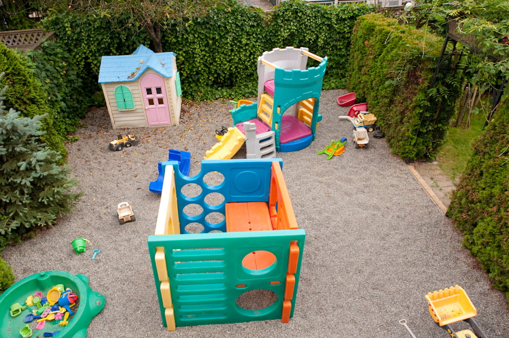Coquitlam daycare facility  Stars Childcare backyard play area