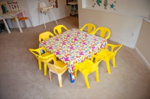 Coquitlam daycare facility | Stars Childcare play table