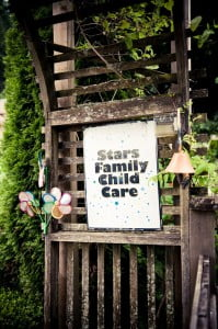 Coquitlam daycare facility | Stars Childcare back yard entrance